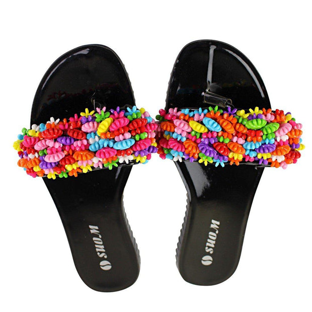 Colorful Beads Women African Sandals US 7.5 / EU 38 - Afrilege