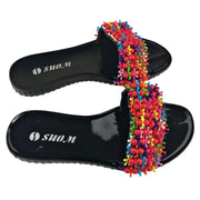 Colorful Beads Women African Sandals US 9.5 / EU 41 - Afrilege