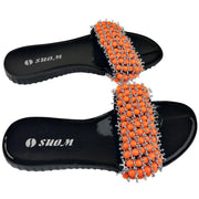 Colorful Beads Women African Sandals US 9 / EU 40 - Afrilege