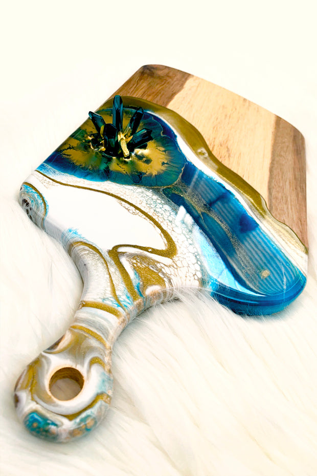 Teal Cheese Board - ShopAuthentique