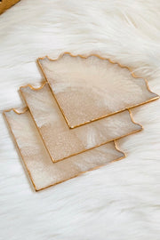 Pearl Quartz Coaster Set - ShopAuthentique