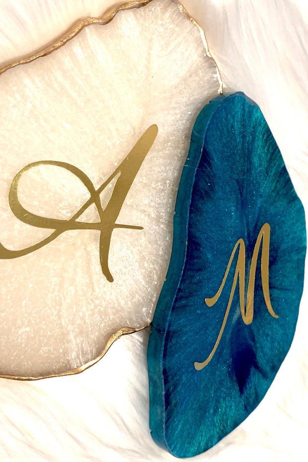 Personalized Coaster - Aqua Quartz - ShopAuthentique