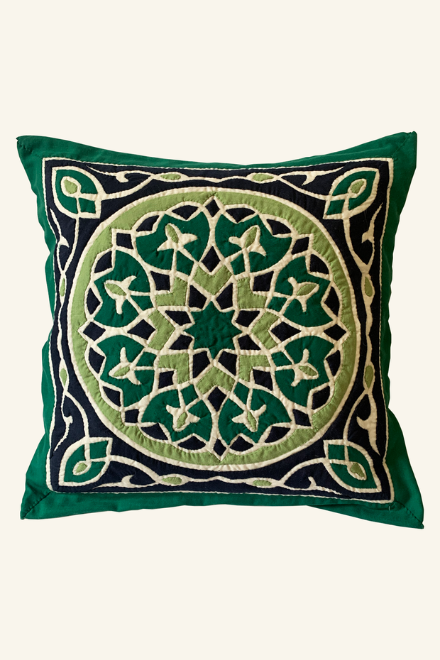 Green Mosaic Pillow Case - ShopAuthentique