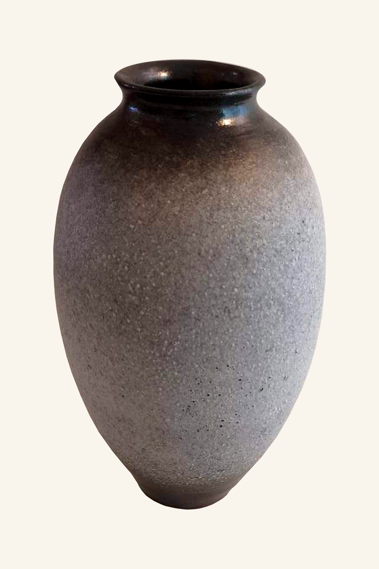 Grey Ombre Pottery Vase - ShopAuthentique