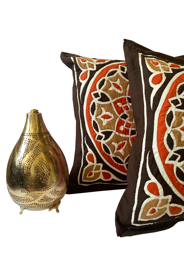 Brown Mosaic Pillow Case - ShopAuthentique