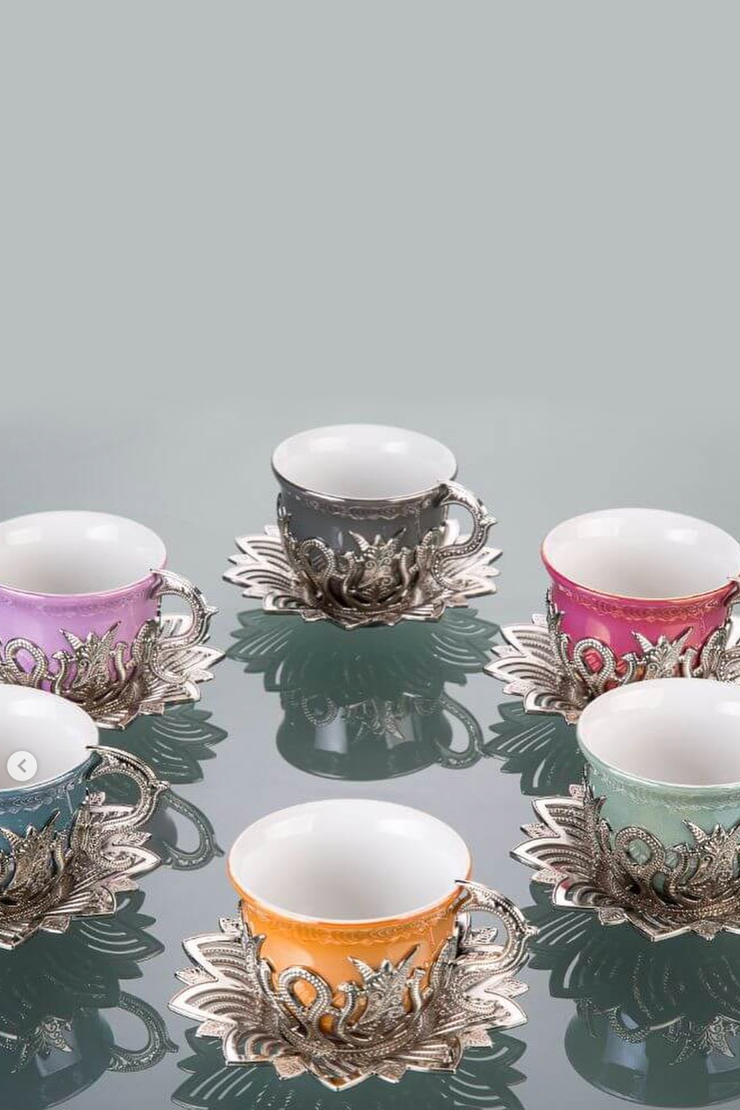 Silver Turkish Tea Set - ShopAuthentique
