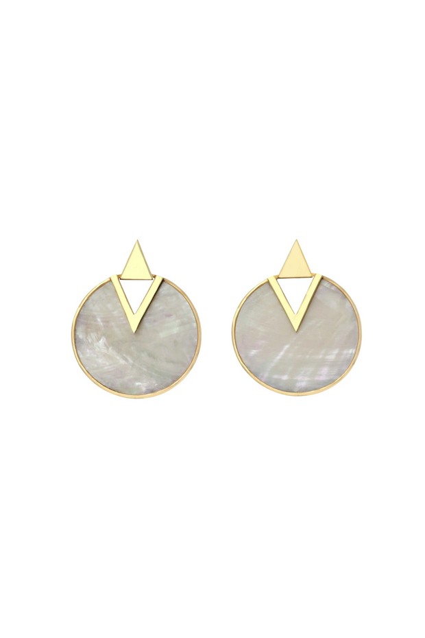 Gold Sage Earrings