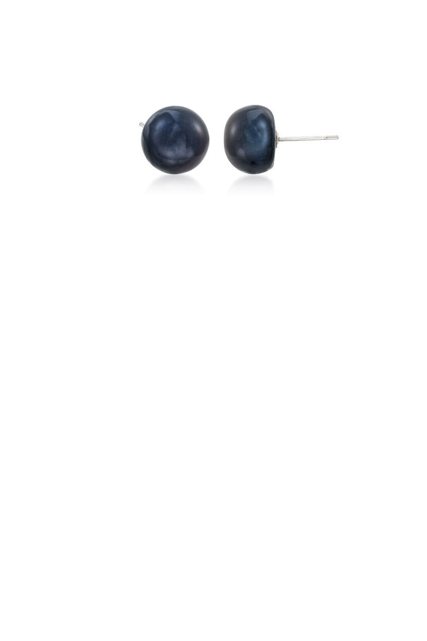8mm Peacock Pearl Studs - ShopAuthentique