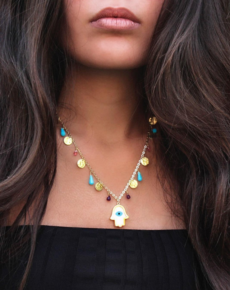 (Hand of Fatma) KAFF Necklace - ShopAuthentique