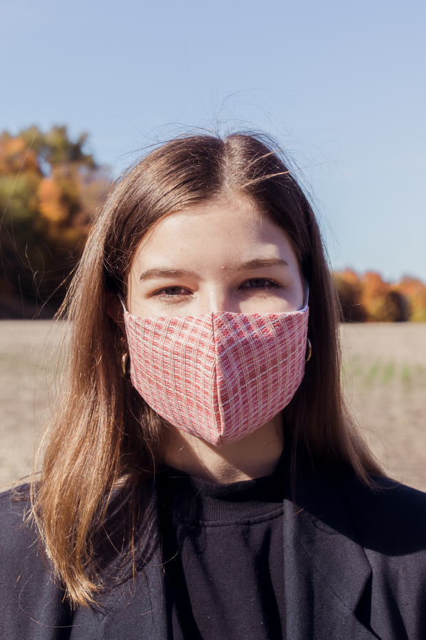 Pink Woven Mask
