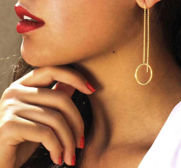 Threaded Hoop Earring - ShopAuthentique