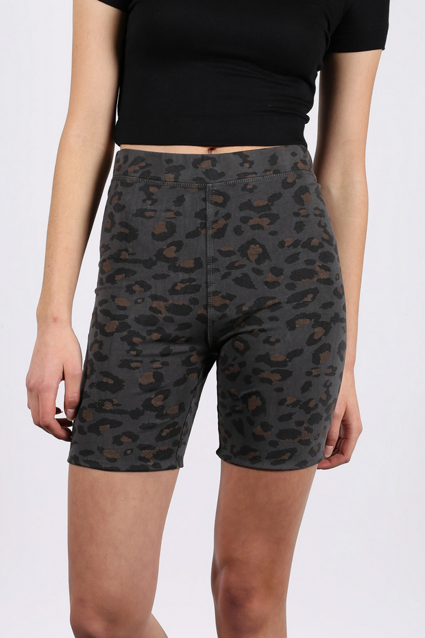 "The ""SLATE LEOPARD"" Biker Short"