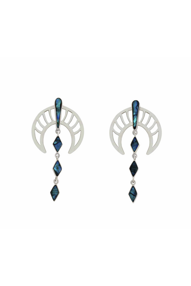 Blue Rawan Earrings in Silver