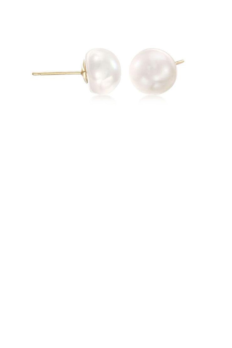 6mm White Pearl Studs - ShopAuthentique