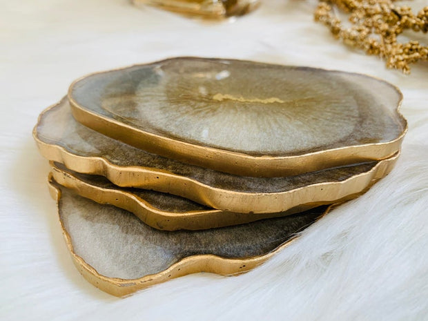 Pearl Gold Agate Coaster - ShopAuthentique