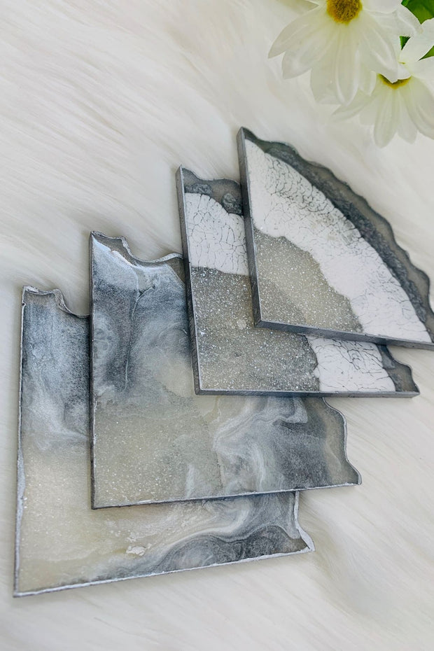 Silver Quartz Coaster Set - ShopAuthentique