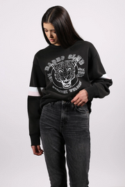 "The ""BABES CLUB"" Leopard Step Sister Crew Neck Sweatshirt"
