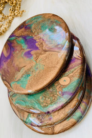 Purple & Bronze Coaster - ShopAuthentique