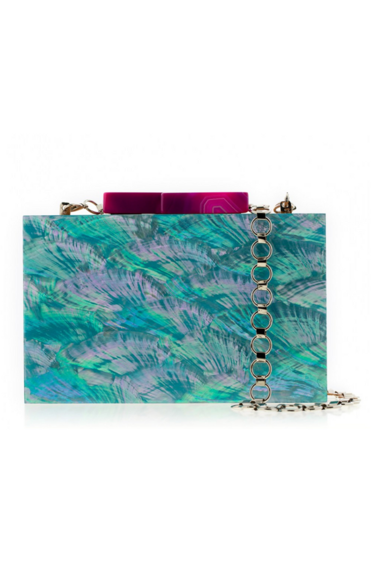 Sky Blue Abalone Elements Clutch