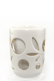 Gold& Cream Double Walled Cup - 8oz
