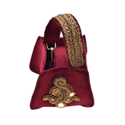 Burgundy Velvet Bucket Bag - ShopAuthentique