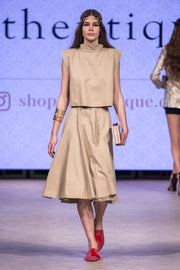 Runway Collection Kenton Skirt Set- Camel - ShopAuthentique