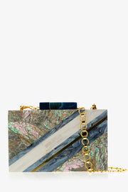 Blue Abalone + White Mother of Pearl Elements Clutch
