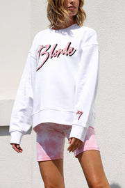 "The ""BLONDE"" Step Sister Crew Neck Sweatshirt"