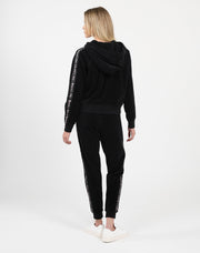 "The ""BRUNETTE LOVES JUICY"" Black Velour Jogger"