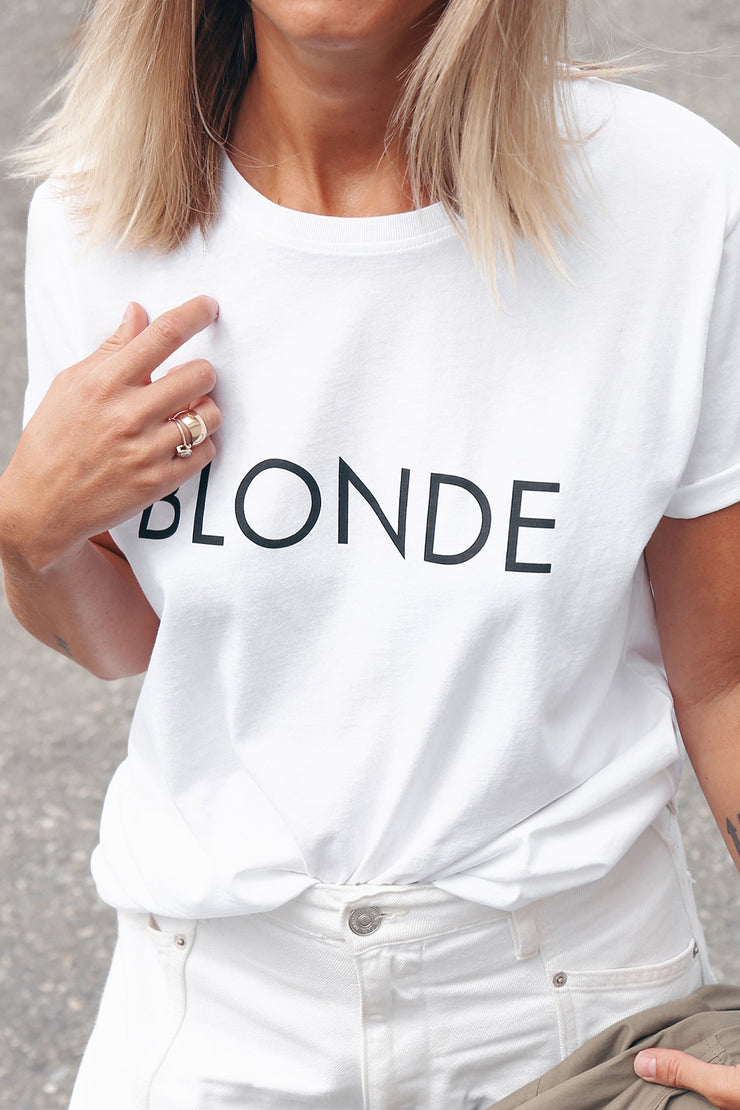 "The ""BLONDE"" Classic Crew Neck Tee 