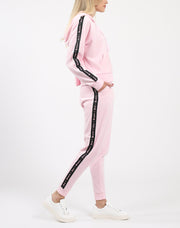 "The ""BRUNETTE LOVES JUICY"" Pink Velour Jogger"
