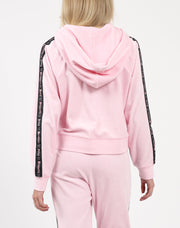 "The ""BRUNETTE LOVES JUICY"" Pink Velour Track Jacket"