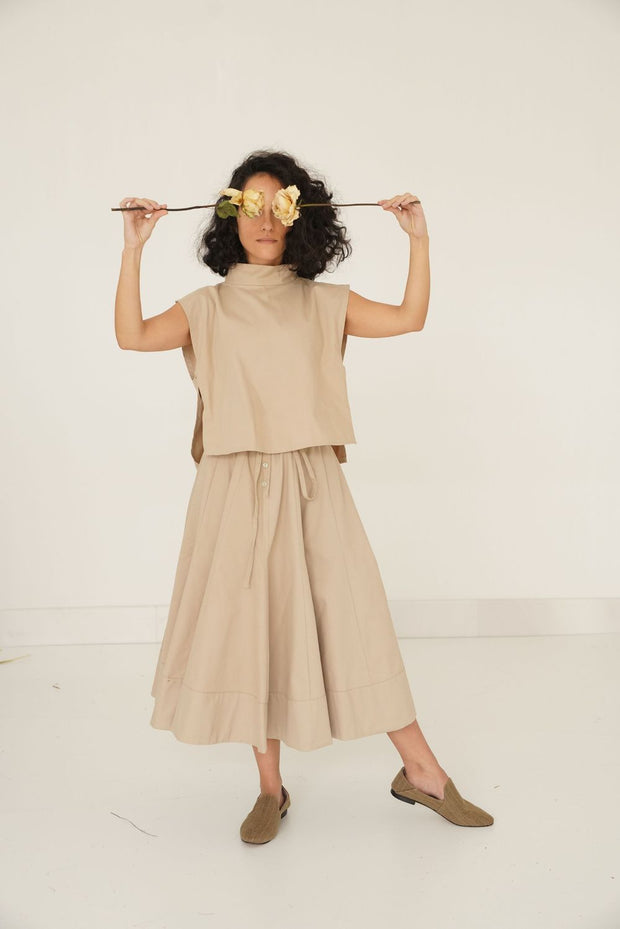 Kenton Skirt Set- Camel - ShopAuthentique