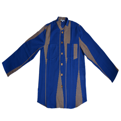 Mustard Arrows on Royal Blue - ShopAuthentique