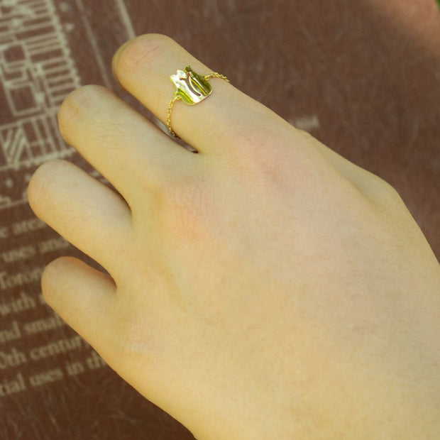 Tulip Catena Gold Ring - ShopAuthentique