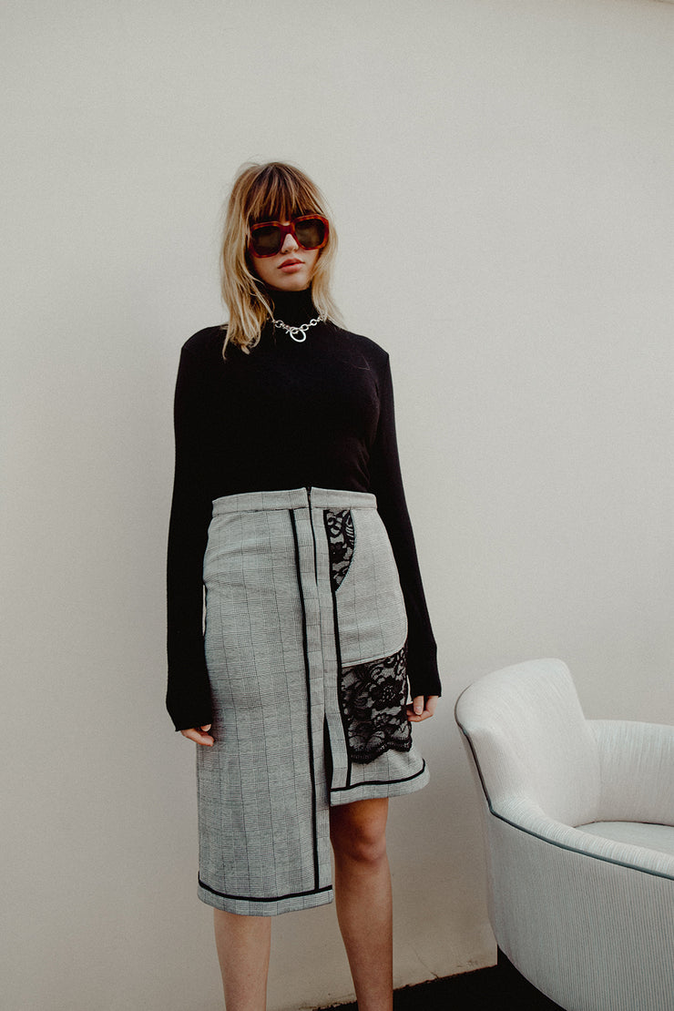 Asymmetrical Grey Skirt - ShopAuthentique