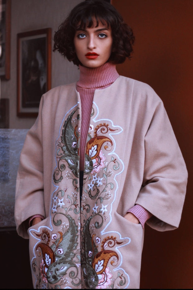 Hellebore Beige Coat - ShopAuthentique