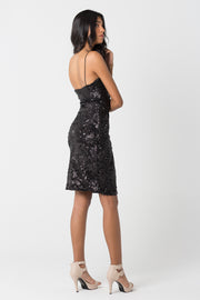 Black Sequined Dress - ShopAuthentique