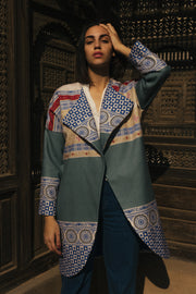 Runway Collection Sapphire Room Coat - ShopAuthentique