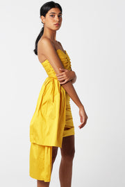 Marigold Silk Taffeta Dress