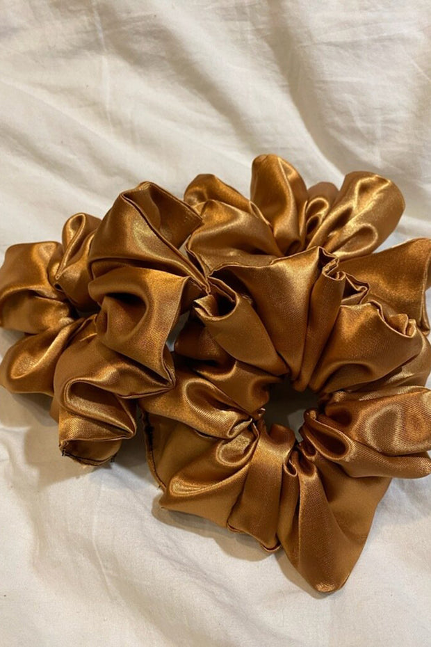 Gold Satin Scrunchie