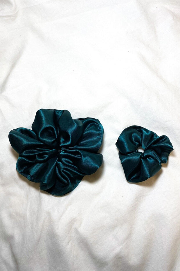 Evergreen Satin Scrunchie