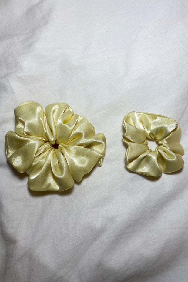 Yellow Satin Scrunchie