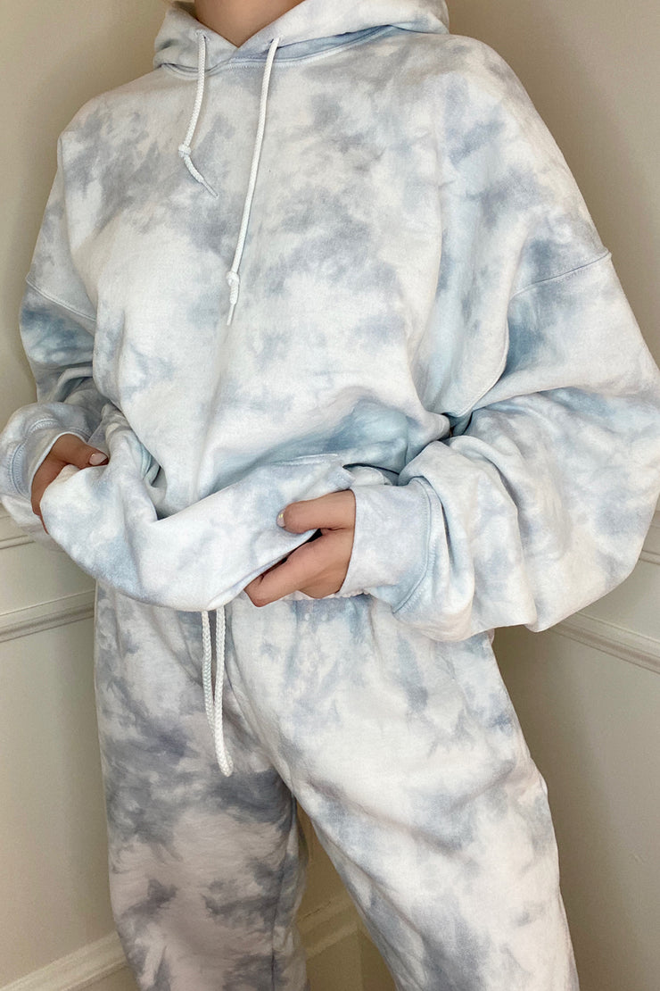Pearl Grey Cloud Sweatpants