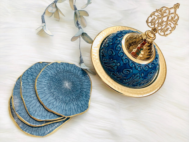 Blue Agate Coaster Set - ShopAuthentique