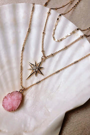 Three Layer Quartz Necklace - ShopAuthentique