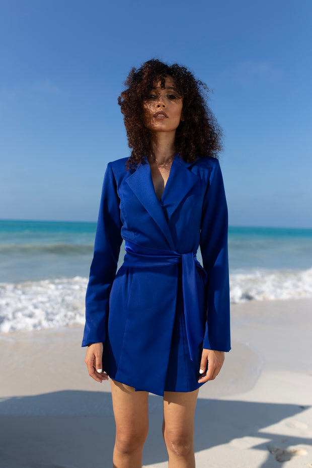 Néro Blue Blazer Dress - ShopAuthentique