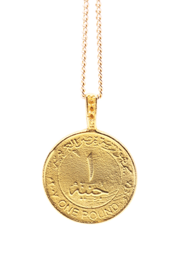THE KING Tut Coin Necklace - ShopAuthentique