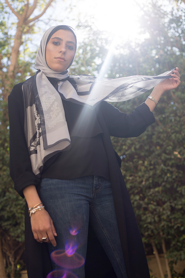 Mother in BE: Dark Greige Scarf - ShopAuthentique