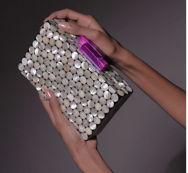 Pearl Circles Clutch - ShopAuthentique